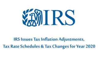 IRS 2020 Inflation Adjustment